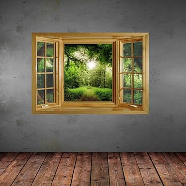Botanisch Stilleven Landschap Vrije tijd Muurstickers 3D Muurstickers Decoratieve Muurstickers Materiaal Verwijderbaar Huisdecoratie