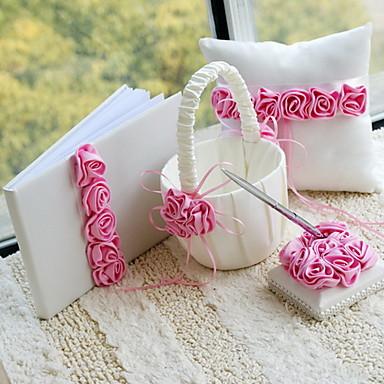roze vette luxe rose bekleed bruiloft collectie set (4 stuks) koraal bruiloft