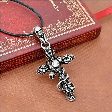 High-end Men's Skull Snake Necklace