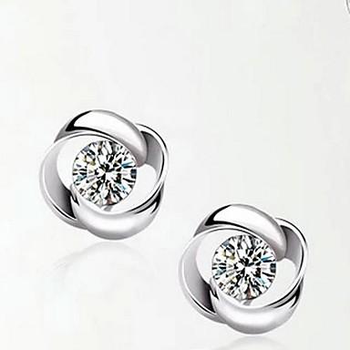Damen Sterling Silber Silber 1 Tropfen-Ohrringe - Regulär Silber Ohrringe Für