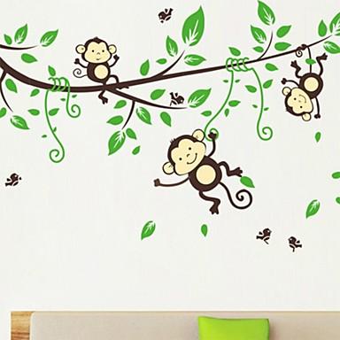 Hayvanlar Karton Duvar Etiketler Uçak Duvar Çıkartmaları Dekoratif Duvar Çıkartmaları,Vinil Malzeme Tekrar Pozisyon Ev dekorasyonuDuvar