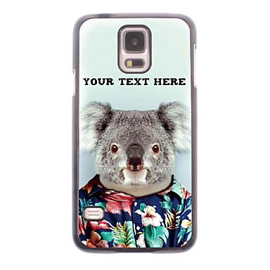 cazul în care telefonul personalizate - koala carcasa de metal de proiectare pentru i9600 Samsung Galaxy s5