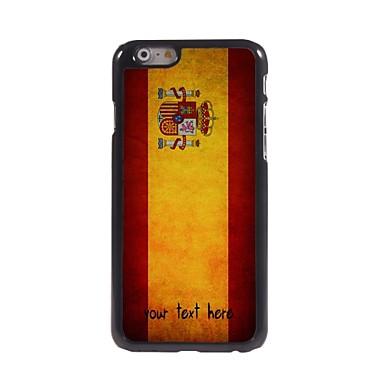 gepersonaliseerd geval spaanse vlag ontwerp metalen behuizing voor de iPhone 6 (4.7