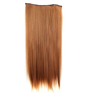 5 klipler ile saç uzatma 24 inç 120g uzun sentetik saç parçası düz klip