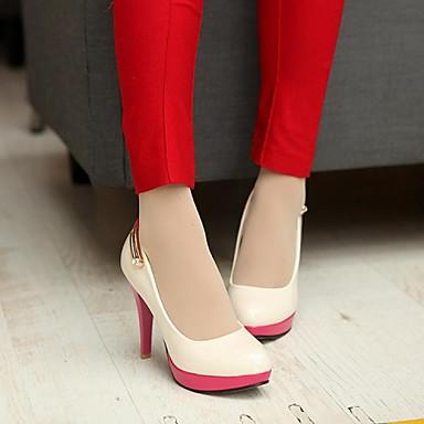 Rose 02708780 Similicuir Noir Aiguille Printemps Pour Blanc Habillé Femme Eté Automne Chaussures Talon Beige Pg5Ofwq