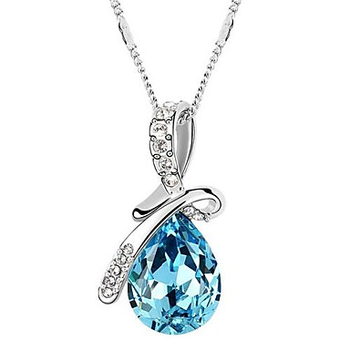 Women's Alloy Pendant Necklace - Alloy Fashion Necklace For