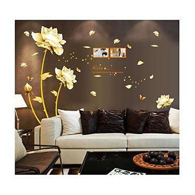 Romantik Blumen Cartoon Design Wand-Sticker Flugzeug-Wand Sticker Dekorative Wand Sticker, Vinyl Haus Dekoration Wandtattoo Wand