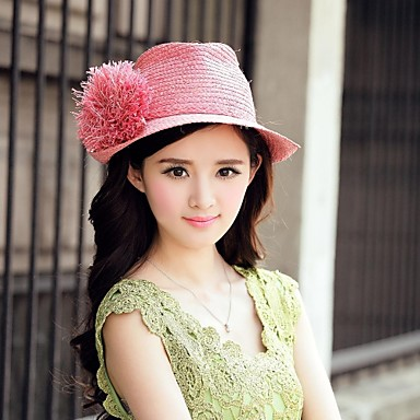 Export Raffia Straw Famale Outdoor/ Beach/ Sunshine Hat With Short Brim(More Colors)