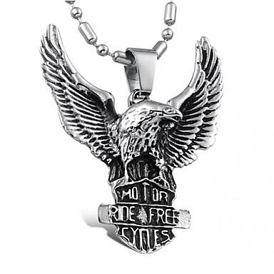 Herre Anheng Halskjede - Titanium Stål Personalisert, Punk, Europeisk Sølv Halskjeder Smykker Til Daglig, Avslappet