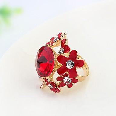 Statementringen Legering Strass Modieus verklaring Jewelry Wit Rood Regenboog Sieraden Feest 1 stuks