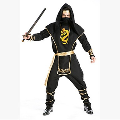 Στολές Zentai Ninja Στολές Ηρώων Ταινιών Μαύρο Μάσκα Halloween Χριστούγεννα Νέος Χρόνος Ανδρικά Βαμβάκι