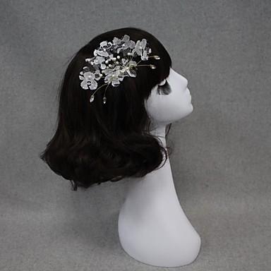 Női Csipke Gyöngy Sisak-Esküvő Különleges alkalom Fésűk Virágok