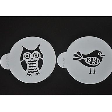 Birds Coffee Stencils Cookie Decorating Tools ST-644