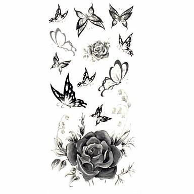 - Dövme Etiketleri - Temalı/Lower Back/Waterproof - Çiçek Serisi - Kadın/Yetişkin/Genç - Çokrenkli - Kağıt - 1 -Adet 18.5*8.5cm