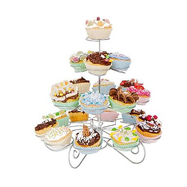 결혼 / 생일 파티, 컵 케이크 타워, 스테인레스 스틸 23 카운트 4 층 먹고 서