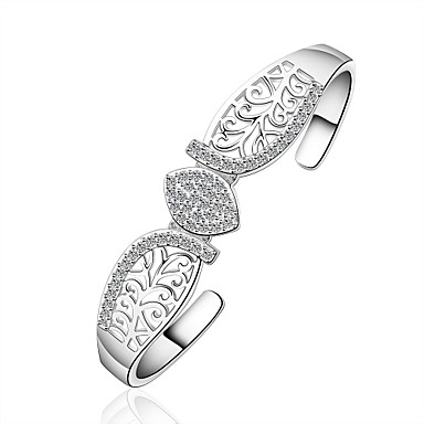 Women's Bangles Jewelry Luxury Vintage Bohemian Natural Friendship Hip-Hop Fashion Gothic Punk Zircon Copper Silver Plated Silver Round
