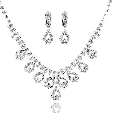 Női Rövid nyakláncok - Hamis gyémánt Bojt Ezüst Nyakláncok Kompatibilitás Esküvő, Parti, Születésnap / Eljegyzés