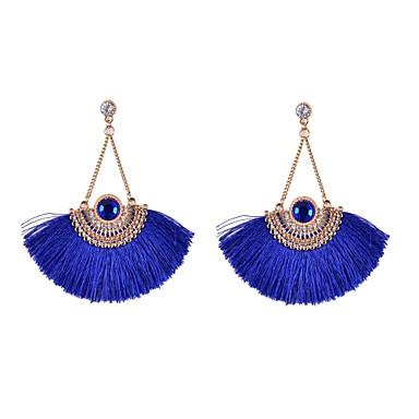 Dames Strass Gesimuleerde diamant Druppel oorbellen - Cirkelvorm Geometrische vorm Acryl Strass Stof Gesimuleerde diamant Legering Voor