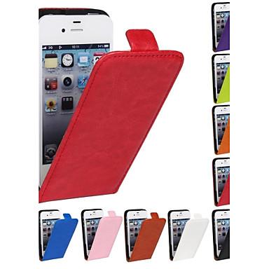 Pouzdro Uyumluluk iPhone 4/4S Apple Tam Kaplama Kılıf Sert PU Deri için iPhone 4s/4