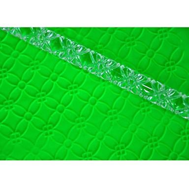 four-c cookie-gereedschappen reliëf deegroller voor cupcake ontwerp kleur transparant, 1pcs