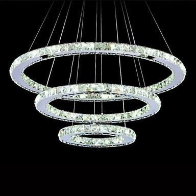 Circular Chandelier Ambient Light Electroplated Metal Crystal, LED 110-120V / 220-240V