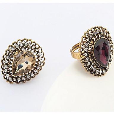 Pierścionki Modny Impreza Biżuteria Stop / Cyrkonia Duże pierścionki 1szt,Jeden rozmiar Złoty