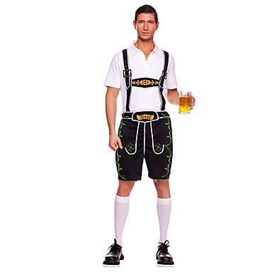 Maid Costume Bavarian Oktoberfest Cosplay Costume Party Costume Men's Halloween Oktoberfest Festival / Holiday Halloween Costumes Black