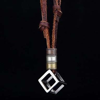 Statement Ketten / Medaillon Halskette / Vintage Halskette - Leder damas, Retro Braun Modische Halsketten Schmuck Für Party, Alltag, Normal, Sport / Anhänger / Anhänger