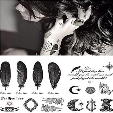 1 Pcs Tatuaggi Adesivi Tatuaggi Temporanei Serie Romantica Adesivo Liscio - Nuovo Design Arti Del Corpo Corpo - Polso - Gamba - Autoadesivo Del Tatuaggio #02858300