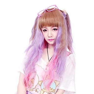 Peruci Lolita Punk Lolita culoare Gradient Peruci Lolita 50 CM Peruci de Cosplay Peteci Perucă Pentru