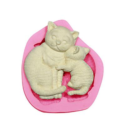 cat anya&cica szilikon penész tortát díszítő szilikon penész a fondant cukorka kézműves ékszer PMC gyanta agyag