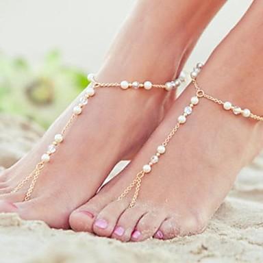 Metal Barefoot Sandals Women's Wedding Vacation Gold