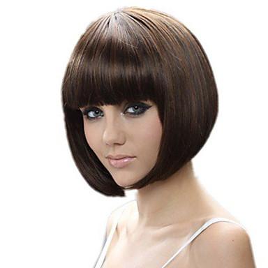 этап моды парики короткие коричневые