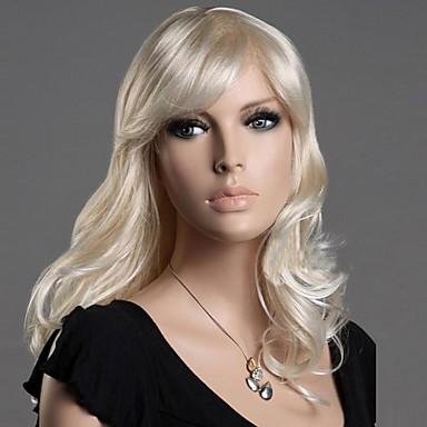 pluizige charmante crème grote golf krullend haar