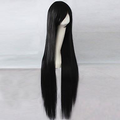 Vrouw Synthetische pruiken Lang Zwart Black Pruik Kostuumpruiken