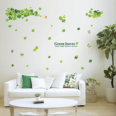 Environmental Removable Green Leaves And Branch PVC Wall Sticker
