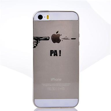 Case Kompatibilitás iPhone 5 Apple iPhone X iPhone X iPhone 8 Plus iPhone 5 tok Átlátszó Minta Fekete tok Apple logo Puha TPU mert iPhone