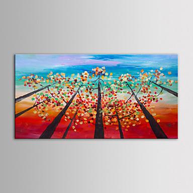 Hang festett olajfestmény Kézzel festett - Landscape Kortárs Vászon