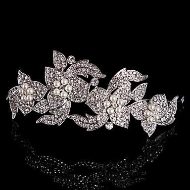 Sterling Silver Alloy Tiaras Headbands Flowers Headpiece Elegant Style