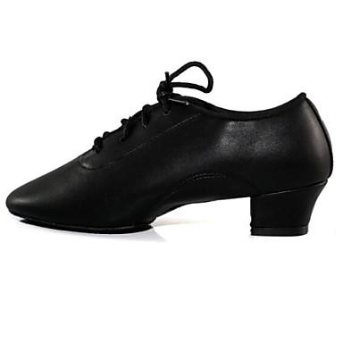 Schuhe für den lateinamerikanischen Tanz Kunstleder Absätze Schnürsenkel Kubanischer Absatz Keine Maßfertigung möglich Tanzschuhe Schwarz
