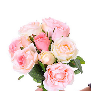 Yapay Çiçekler 1pcs şube Düğün Çiçekleri Güller Masaüstü Çiçeği