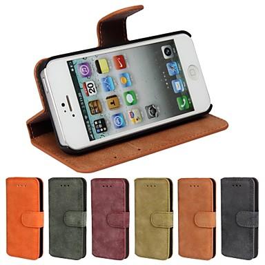 Case Kompatibilitás iPhone 5 Apple iPhone 8 iPhone 8 Plus iPhone 5 tok Kártyatartó Állvánnyal Flip Jeges Héjtok Tömör szín Kemény PU bőr