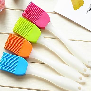 kreative hjem kjøkken silikon myk børste til å rense børsten (tilfeldig farge)