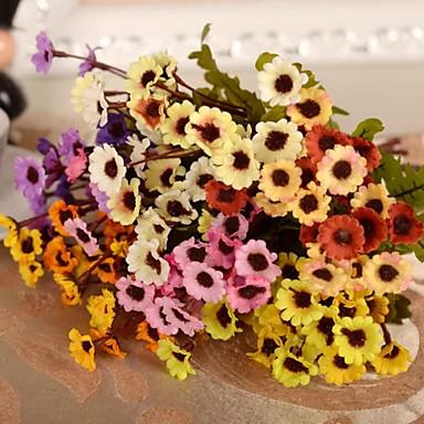 Fleurs artificielles 1 Une succursale Style moderne Chrysanthème Fleur de Table