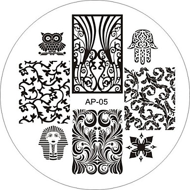 Nail Art Stamp Stamping Image Template Plate AP Series NO.5