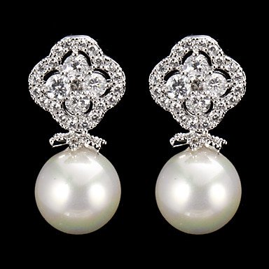 Kadın's Diğerleri 1 Damla Küpeler - Düzenli Klasik Gümüş Küpeler Uyumluluk Parti