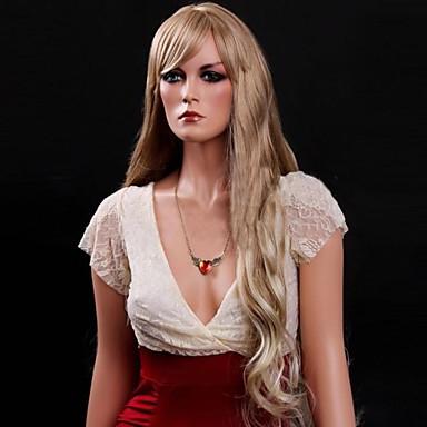 Synthetische Perücken Locken Asymmetrischer Haarschnitt Synthetische Haare Natürlicher Haaransatz Blond Perücke Damen Lang / Kappenlos