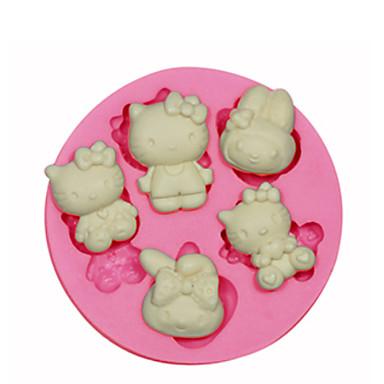ψήσιμο Mold Ζώο Πίτες Μπισκότα Κέικ Σιλικόνη Φιλικό προς το περιβάλλον Υψηλή ποιότητα 3D