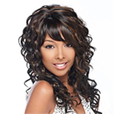 povoljno Perike i ekstenzije-modni miks boju dugim vitičasta žene sintetičkih perika kosa