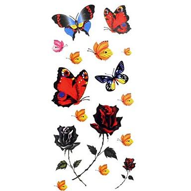 1pc Women's Waterproof Temporary Tattoos Back/Wrist/Neck Tattoos Butterfly Bracelet Jewelry Tattoos(18.5cm*8.5cm)